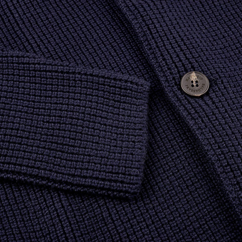 Maurizio Baldassari Navy Knitted Brenta Jacket Cuff