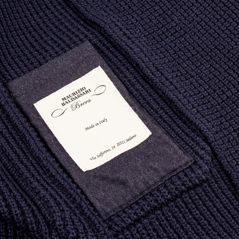 Maurizio Baldassari Navy Knitted Brenta Jacket Inside
