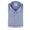 Mazzarelli Blue Houndstooth Button Down Regular Fit Shirt Feature