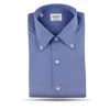 Mazzarelli Deep Blue Button Down Regular Fit Shirt Front