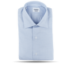 Mazzarelli Light Blue Houndstooth Cutaway Regular Fit Shirt Feature