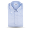 Mazzarelli Sky Blue Herringbone Button Down Regular Fit Shirt Feature