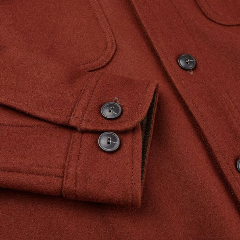 Pendleton Beige Tobacco Thomas Kay Wool Overshirt Cuff