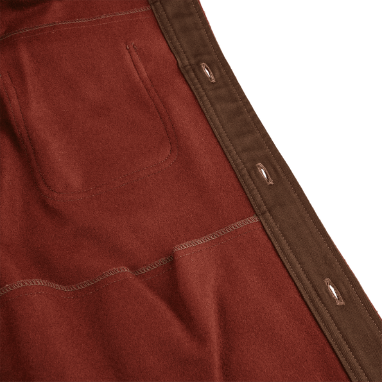 Pendleton Beige Tobacco Thomas Kay Wool Overshirt Inside