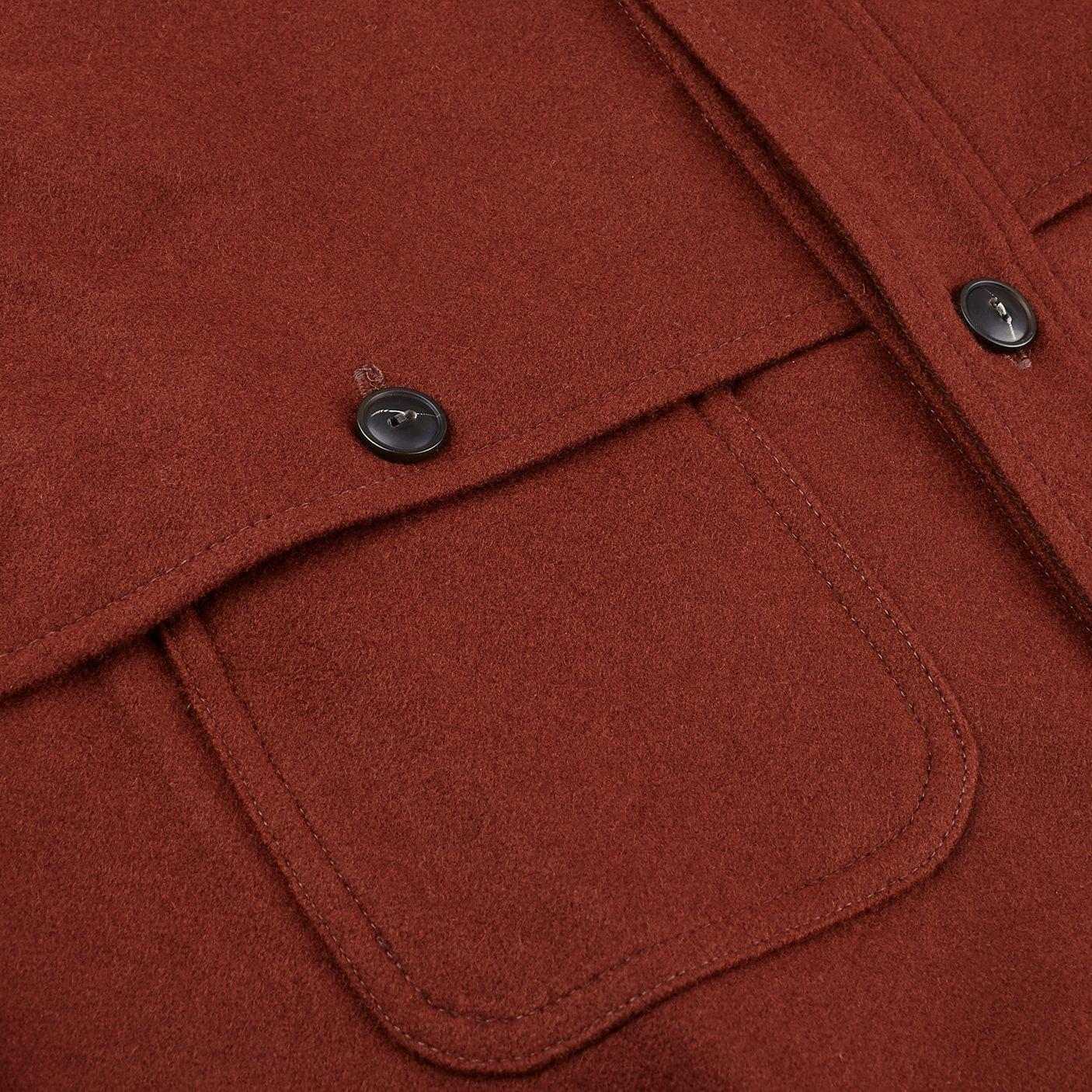 Pendleton Beige Tobacco Thomas Kay Wool Overshirt Pocket