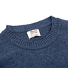 William Lockie Rhapsody Blue Crew Neck Lambswool Sweater Edge Collar