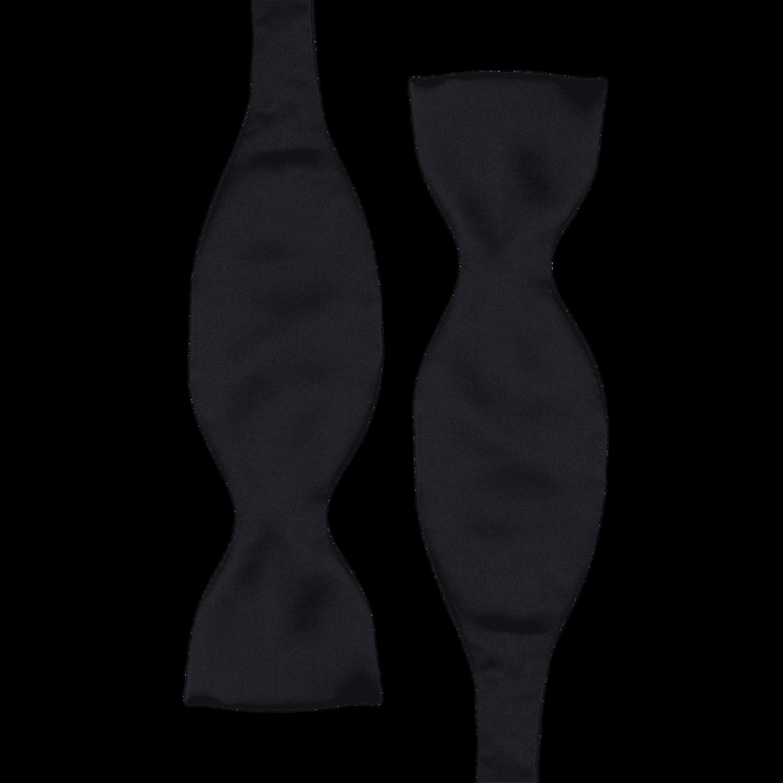 Amanda Christensen Black Silk Self Tie Bow Tie