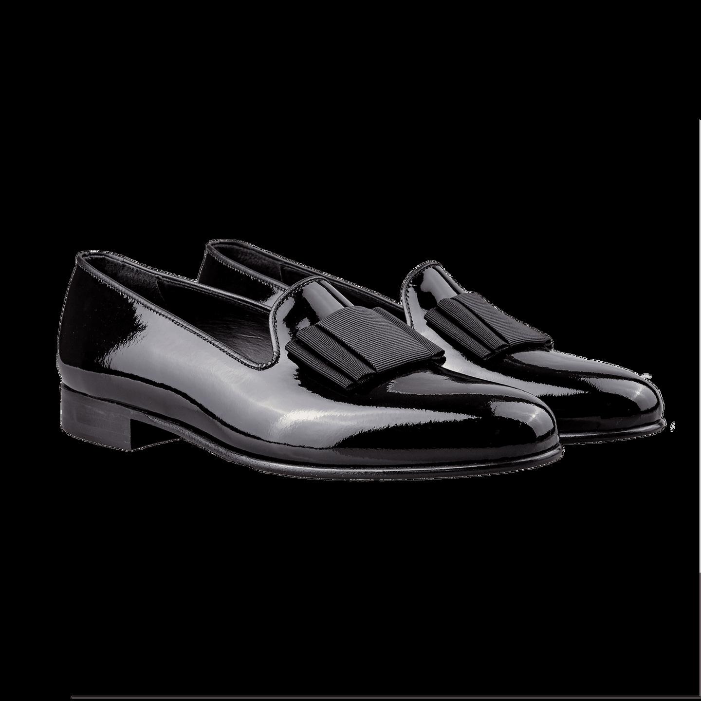 50d6119770f4 Bow Tie Black Albert Patent Leather Pumps Front