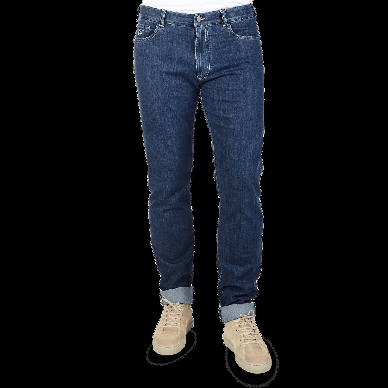 Canali Dark Indigo Stretch Canali Jeans Front