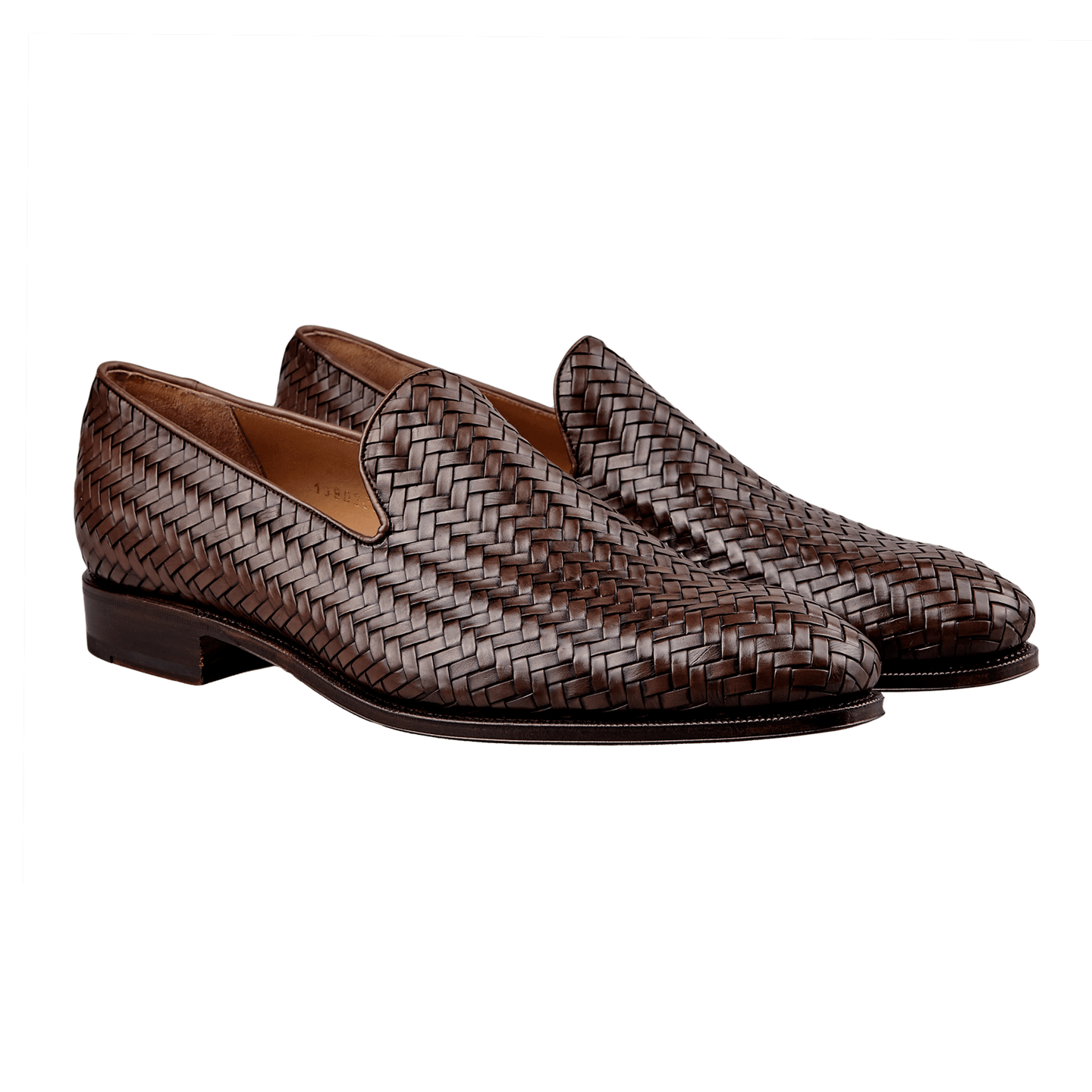 Carmina Braided Leather Loafers Front
