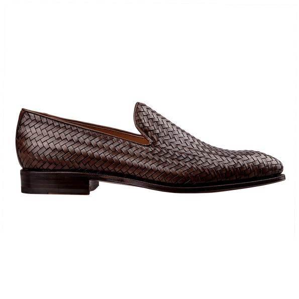 Carmina Braided Leather Loafers Side