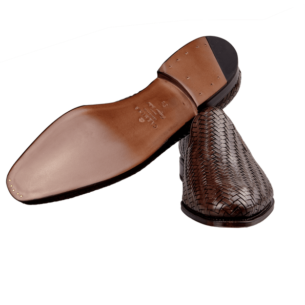Carmina Braided Leather Loafers Sole