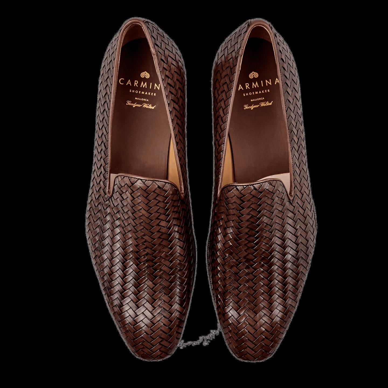 f4ff3a0f62f69 Carmina - Brown Braided Leather Loafers   Baltzar