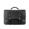 Frank Clegg Black English Briefcase Front