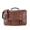 Frank Clegg Chocolate English Briefcase Feature