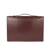Frank Clegg Chocolate The Port Brief Leather Briefcase Back