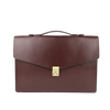 Frank Clegg Chocolate The Port Brief Leather Briefcase Feature