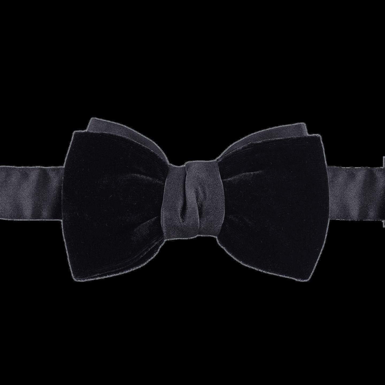 Lanvin Black Velvet Pre-Tied- Bow-Tie Feature