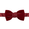 Lanvin Red Velvet Pre-Tied Bow-Tie Feature