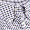 Luciano Barbera White Checked Button-Down Shirt Collar