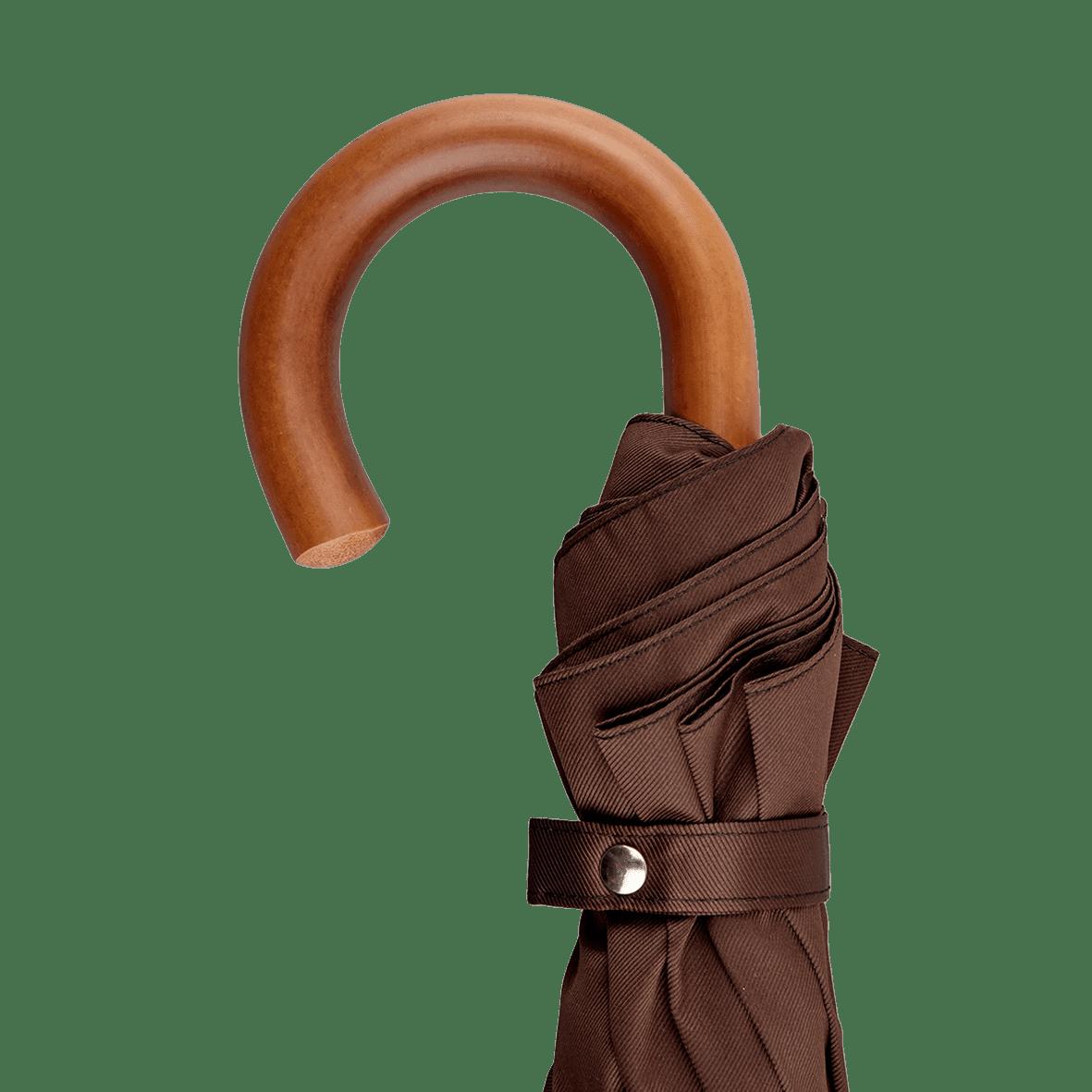 Maglia Francesco Brown Foldable Umbrella Handle