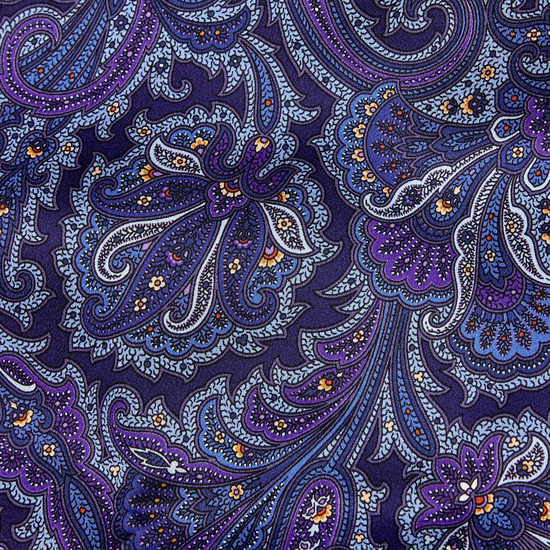 Silvio Fiorello Purple Paisley Silk and Cashmere Scarf Fabric
