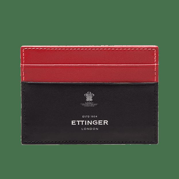Ettinger Black Stirling Flat Credit Card Case Front