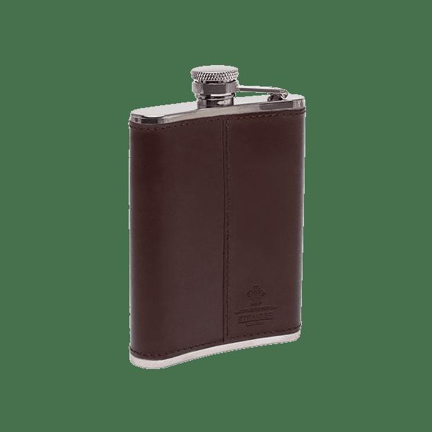 Ettinger Chestnut Hip Flask Back