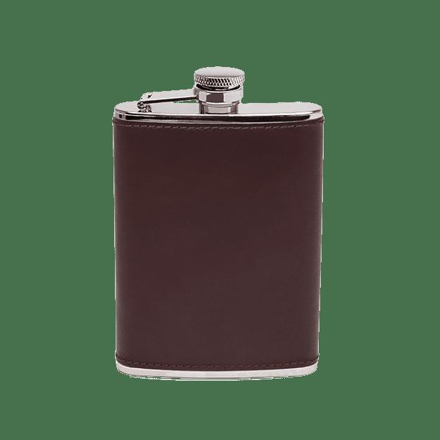 Ettinger Chestnut Hip Flask Front