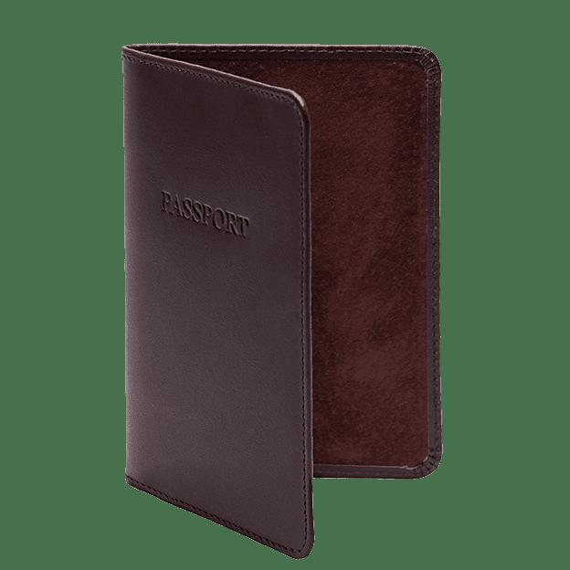 Ettinger Chestnut Passport Case Side