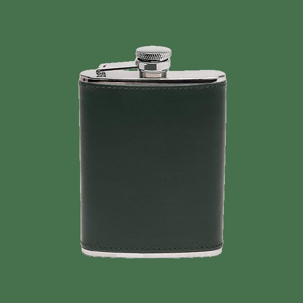 Ettinger Green Hip Flask Front