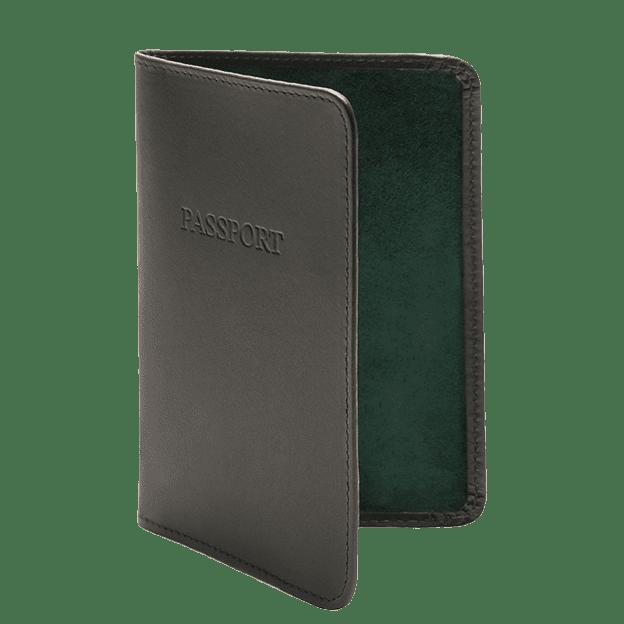 Ettinger Green Passport Case Side