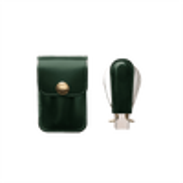 Ettinger Green Travel Shoe Horn in Pouch Folded