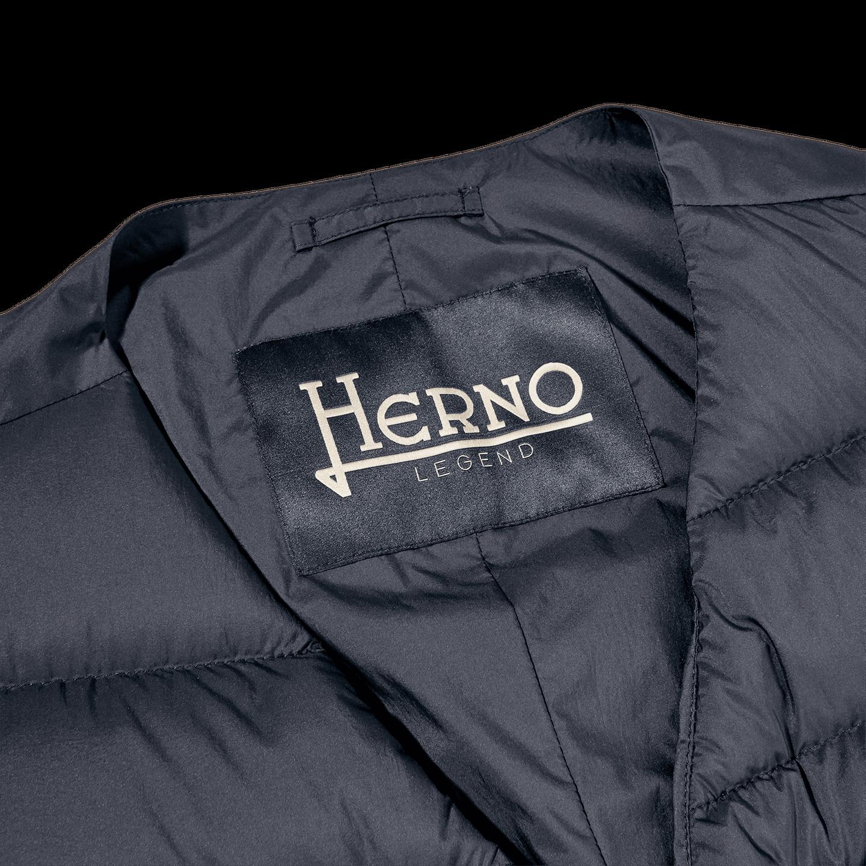 Herno Light Navy Goose Down Legend Gilet Collar