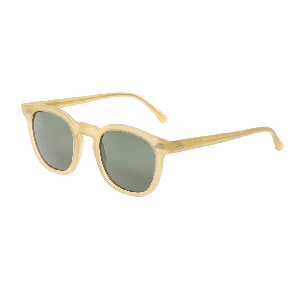 The Bespoke Dudes Eyewear Twill Champagne With Bottle Green Lenses 47mm Feature