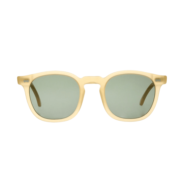The Bespoke Dudes Eyewear Twill Champagne With Bottle Green Lenses 47mm Front
