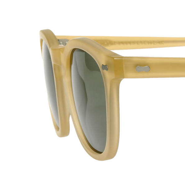 The Bespoke Dudes Eyewear Twill Champagne With Bottle Green Lenses 47mm Side