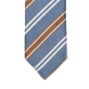 Drake's Blue and Brown Striped Silk Twill Tie Tip