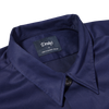 Drake's Navy Cotton Workwear Overshirt Collar