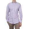 Drake's Purple Oxford Regular Fit Button Down Shirt Front