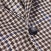 Lardini Brown Houndstooth Wool Silk Linen Blazer Closed