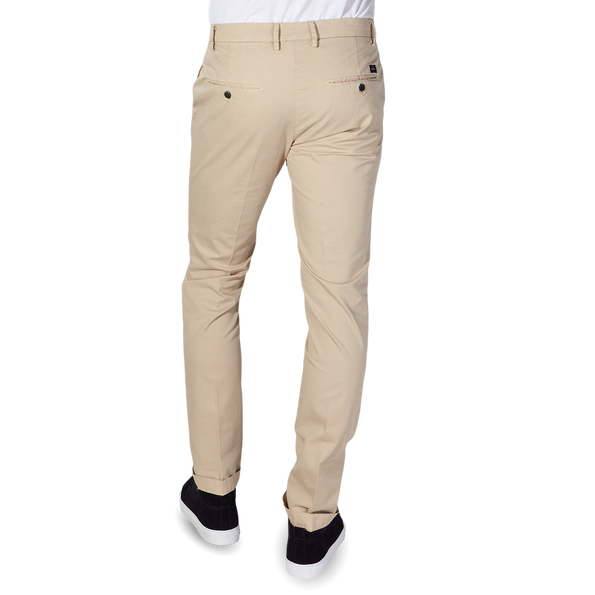 Mason's Beige Milano Washed Cotton Summer Chinos Chinos Back
