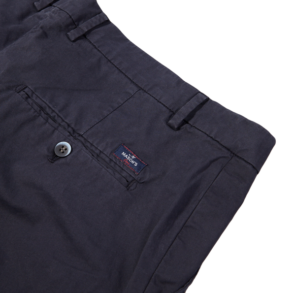 Mason's Navy Milano Washed Cotton Summer Chinos Pocket