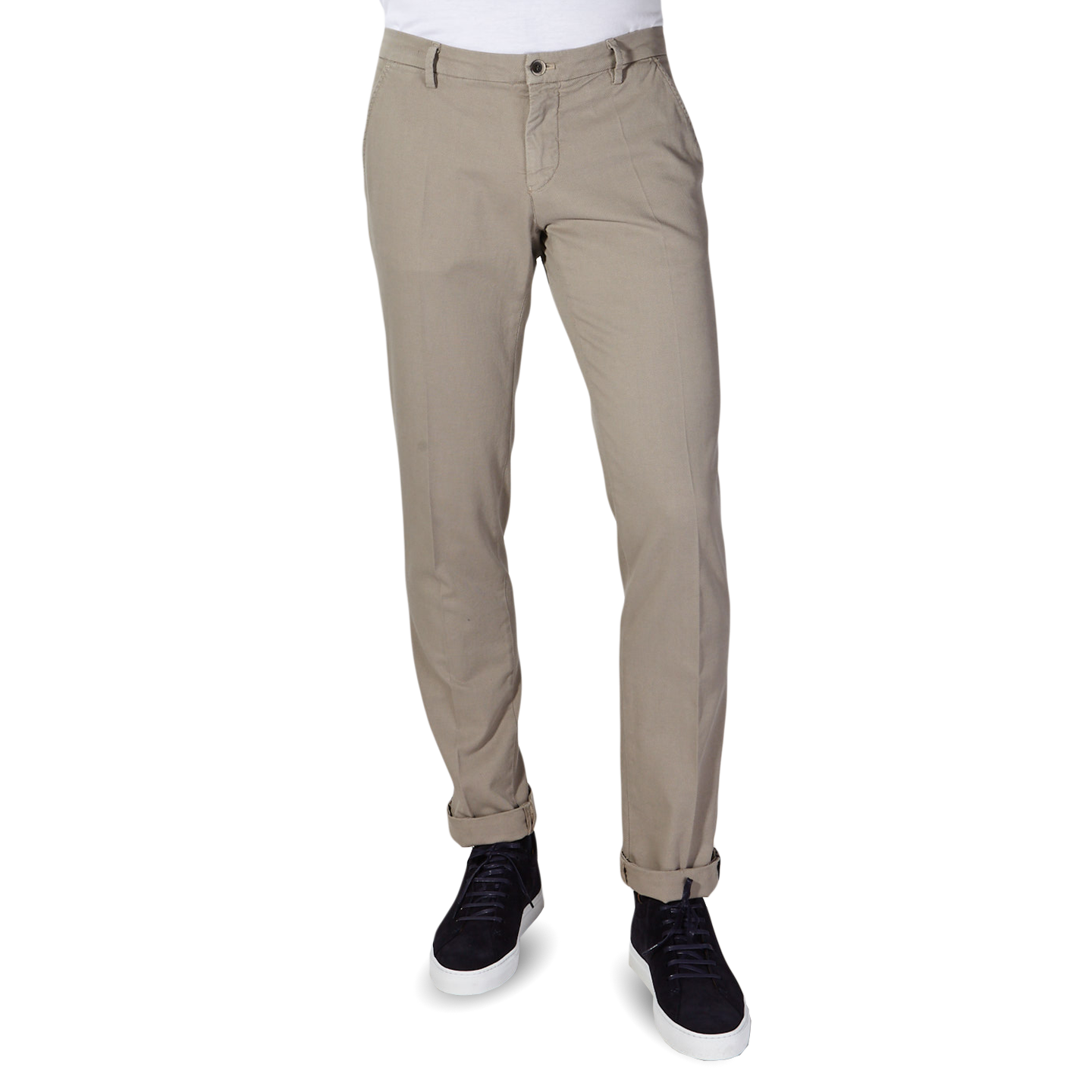 Mason's Taupe Milano Structured Cotton Summer Chinos Front