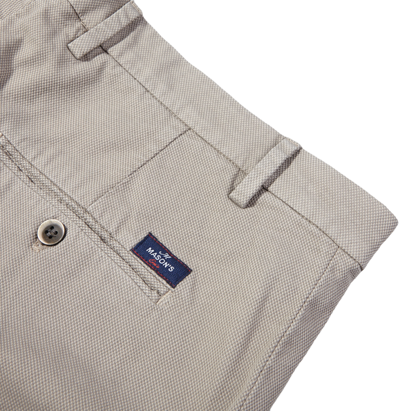 Mason's Taupe Milano Structured Cotton Summer Chinos Pocket