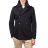 Sealup Navy Double Breasted Cotton Maestrale Peacoat Open