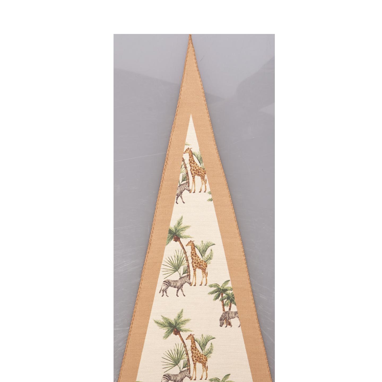 Altea Beige Safari Print Cotton Silk Bandana Edge