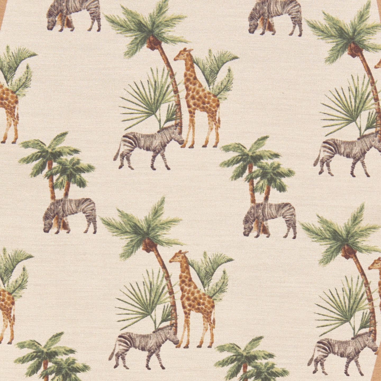 Altea Beige Safari Print Cotton Silk Bandana Fabric