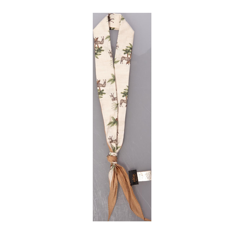 Altea Beige Safari Print Cotton Silk Bandana Feature