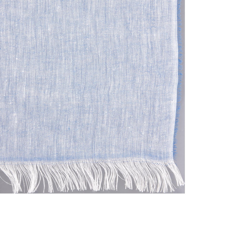 Altea Blue Linen Cotton Scarf Edge